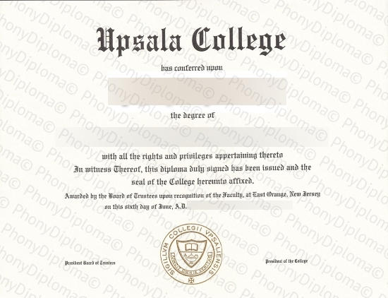 Usa Upsalla College Free Sample From Phonydiploma