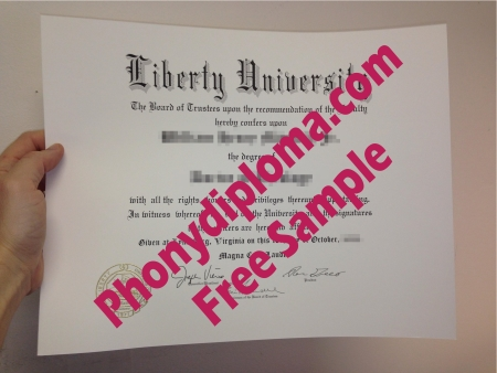 Usa Virginia Liberty University Photo Free Sample From Phonydiploma