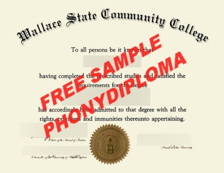 Usa Wallace State Community College Free Sample From Phonydiploma