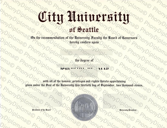 Usa Washington City University Seattle Free Sample From Phonydiploma