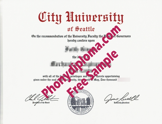 Usa Washington City University Of Seattle 2 Free Sample From Phonydiploma