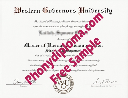 Usa Western Governors University Free Sample From Phonydiploma