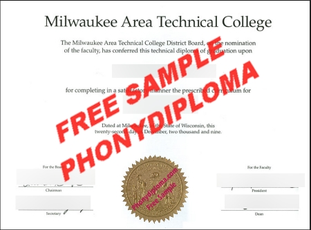 Usa Wisconsin Milwaukee Area Technical College Free Sample From Phonydiploma