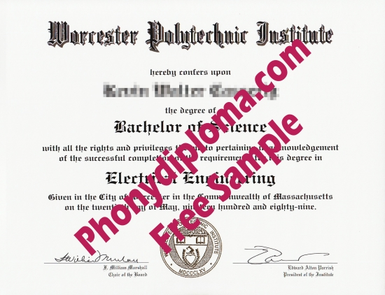 Usa Worcester Polytechnic Institute Free Sample From Phonydiploma