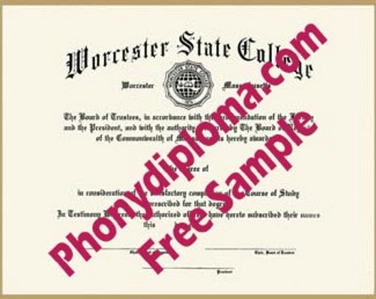 Usa Worcester State College Free Sample From Phonydiploma