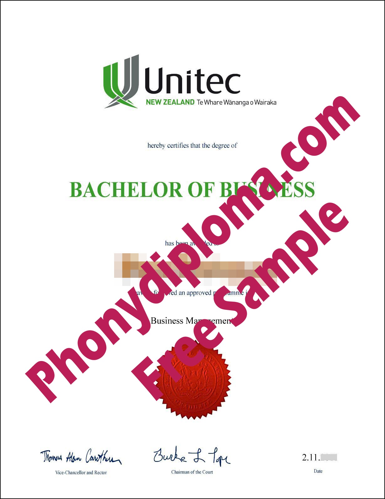 Unitec Institute Of Technology Nz Free Sample From Phonydiploma