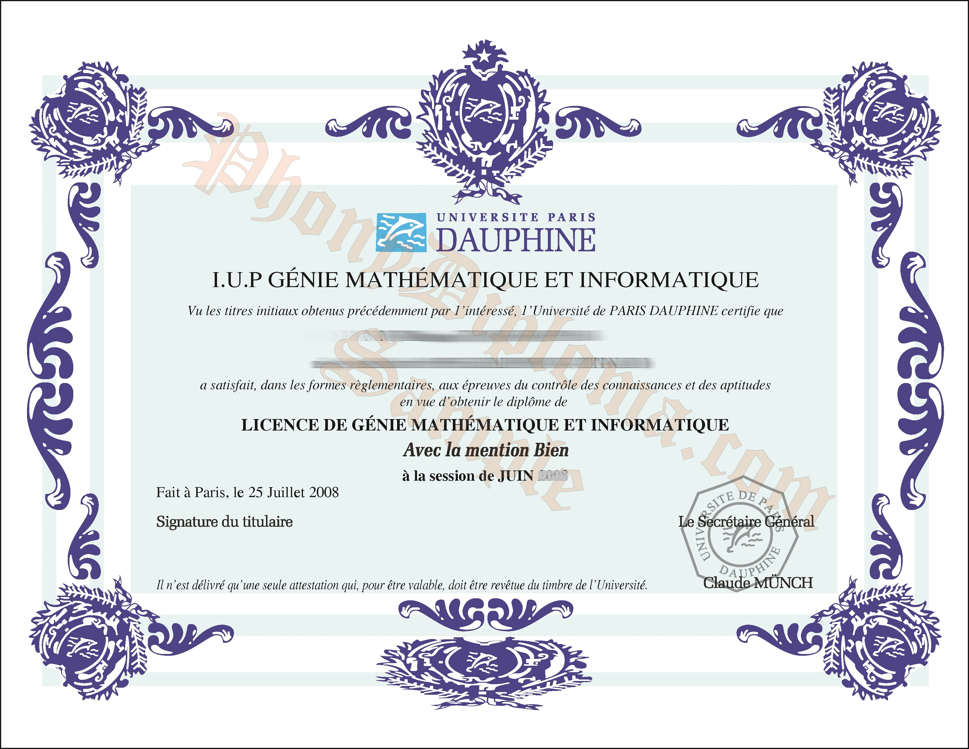 Universite Paris Dauphine Free Sample From Phonydiploma