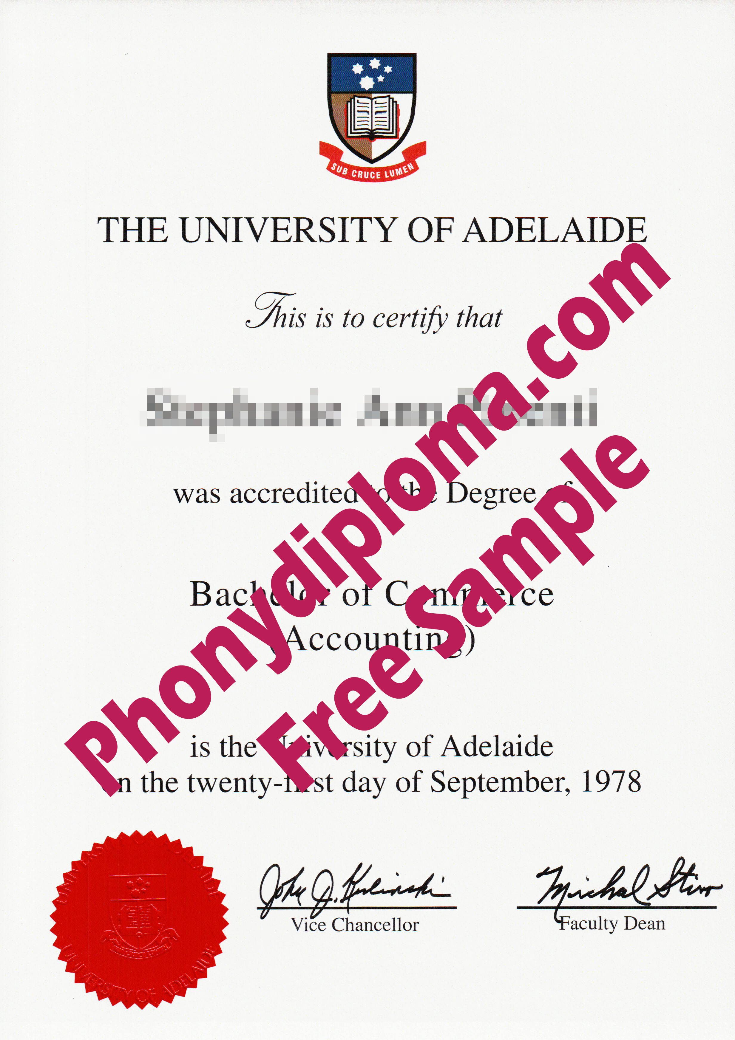 University Of Adelaide Design 2 Free Sample From Phonydiploma