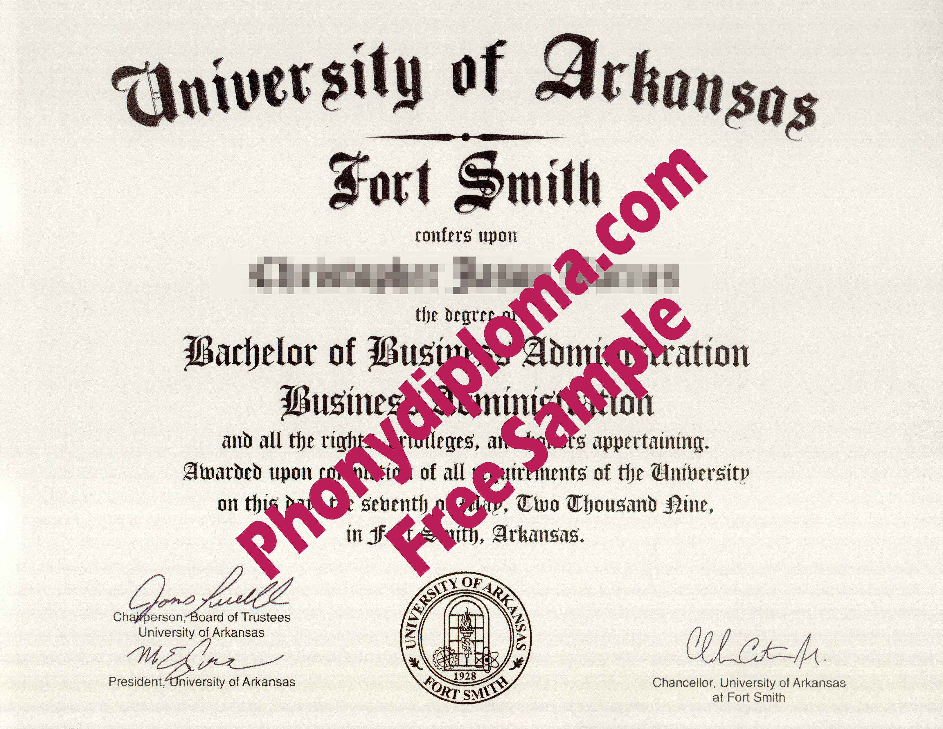 University Of Arkansas Fort Smith Diploma From Phonydiploma (2)
