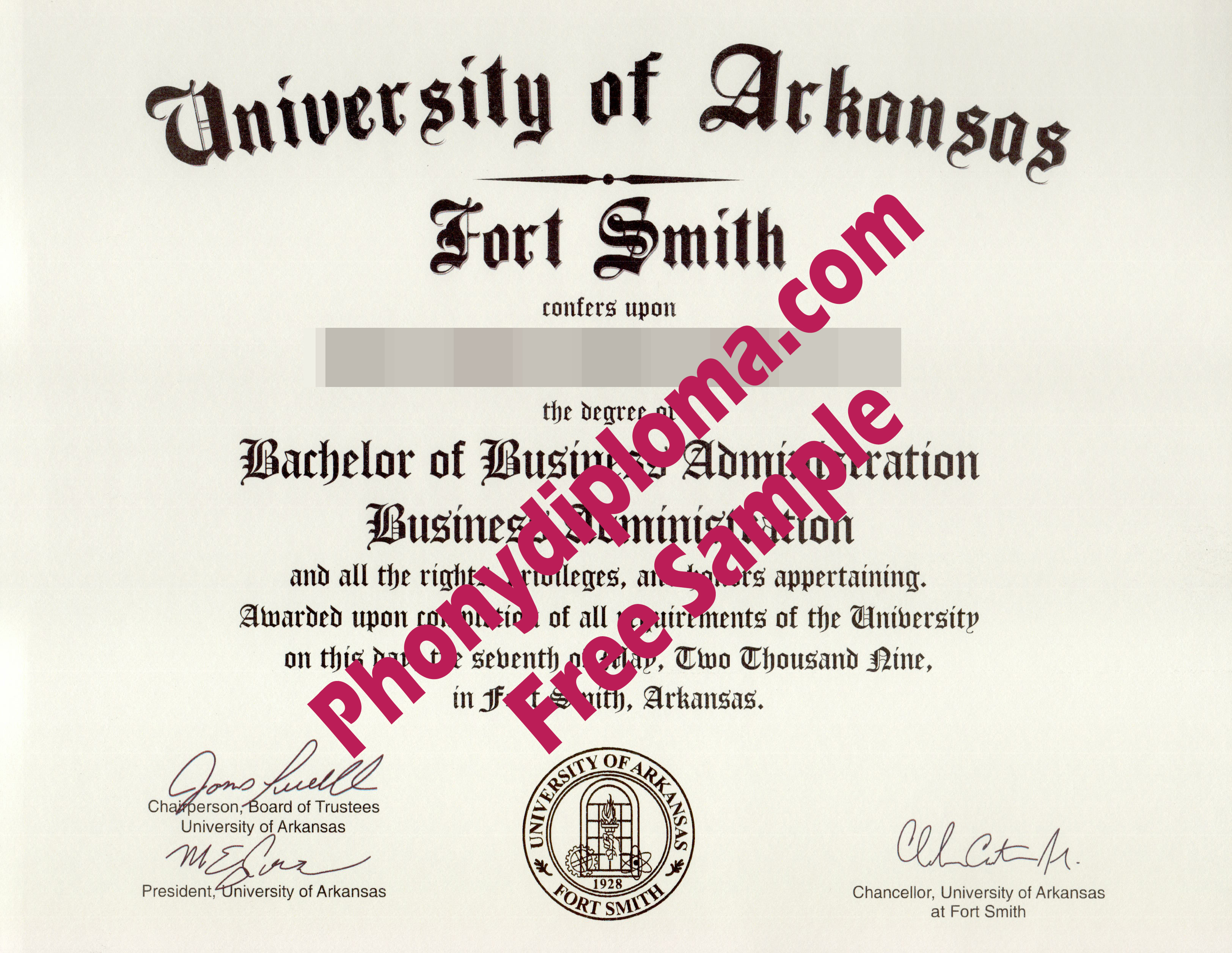 University Of Arkansas Fort Smith Diploma From Phonydiploma