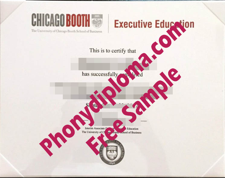 University Of Chicago Booth School Of Business Executive Education Free Sample From Phonydiploma