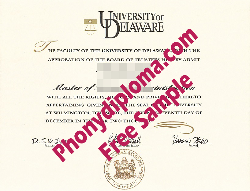 University Of Delaware Free Sample From Phonydiploma (2)