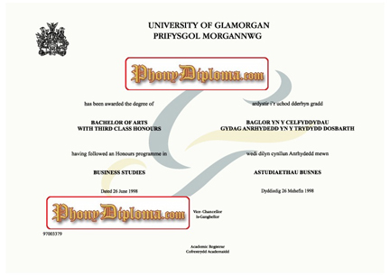 University Of Glamorgan Free Sample From Phonydiploma