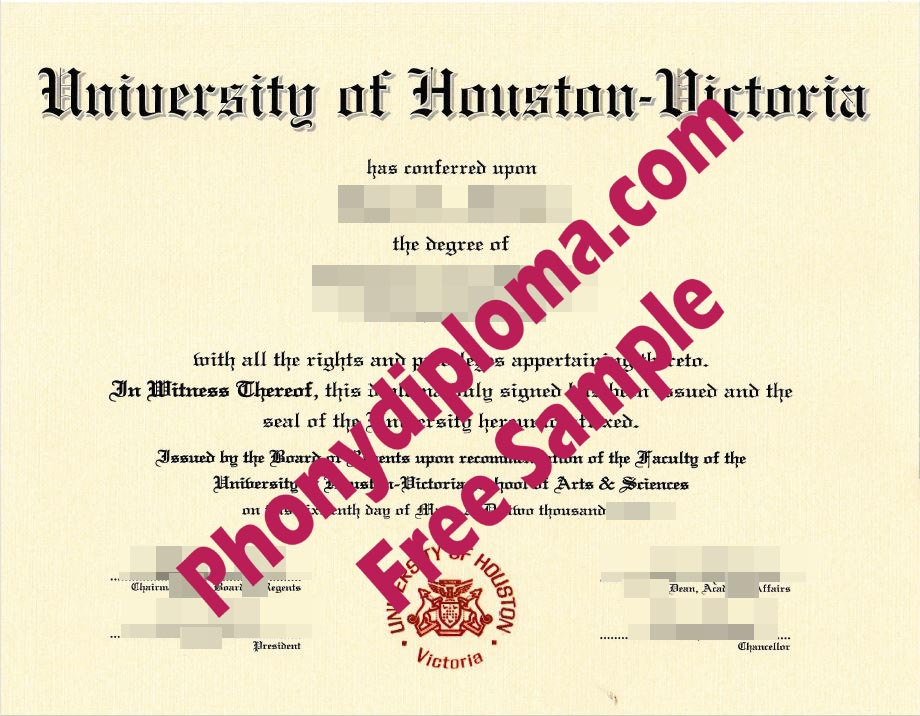 University Of Houston Victoria Free Sample From Phonydiploma