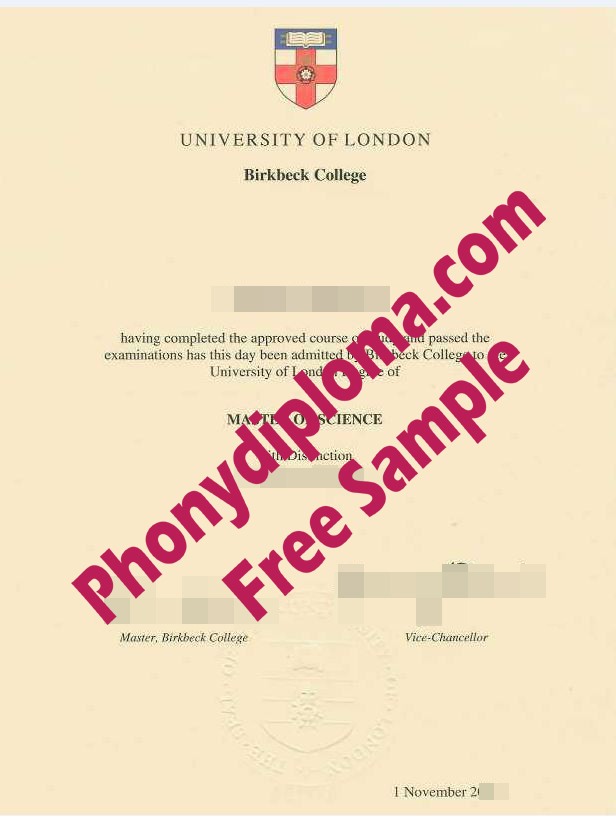 University Of London Birkbeck College Free Sample From Phonydiploma