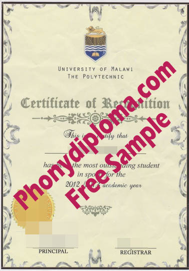 University Of Malawi Free Sample From Phonydiploma