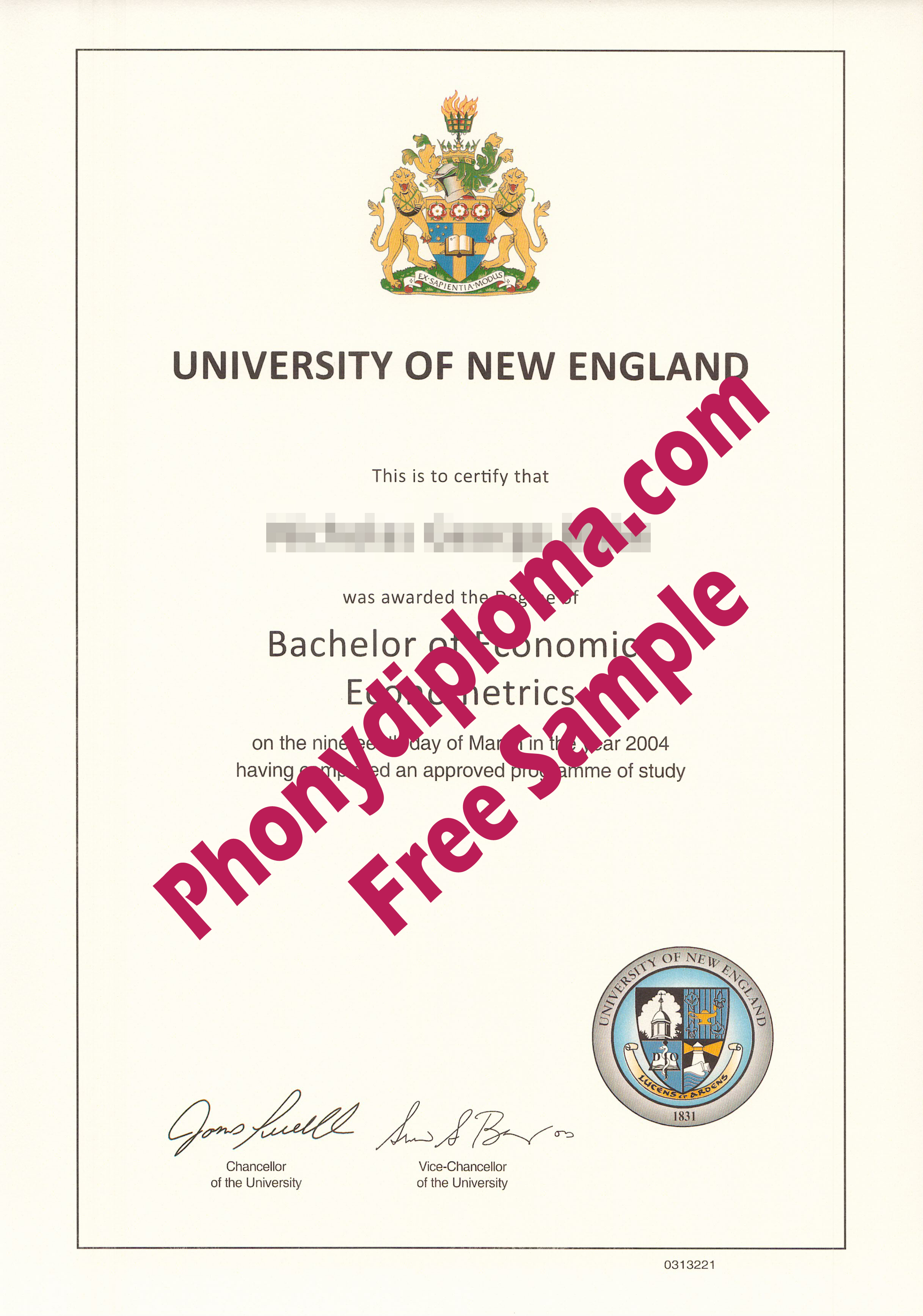 University Of New England Free Sample From Phonydiploma (2)