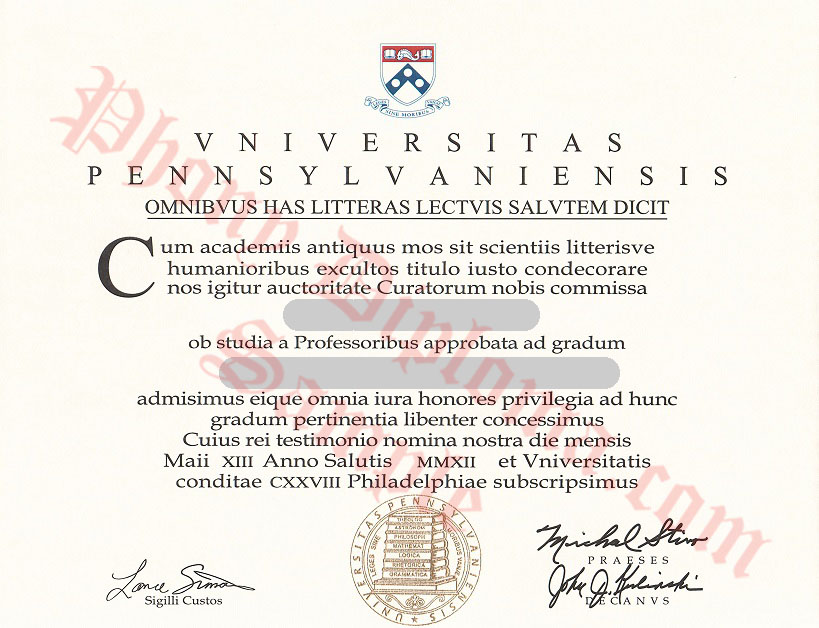University Of Pennsylvania Latin Scan Free Sample From Phonydiploma