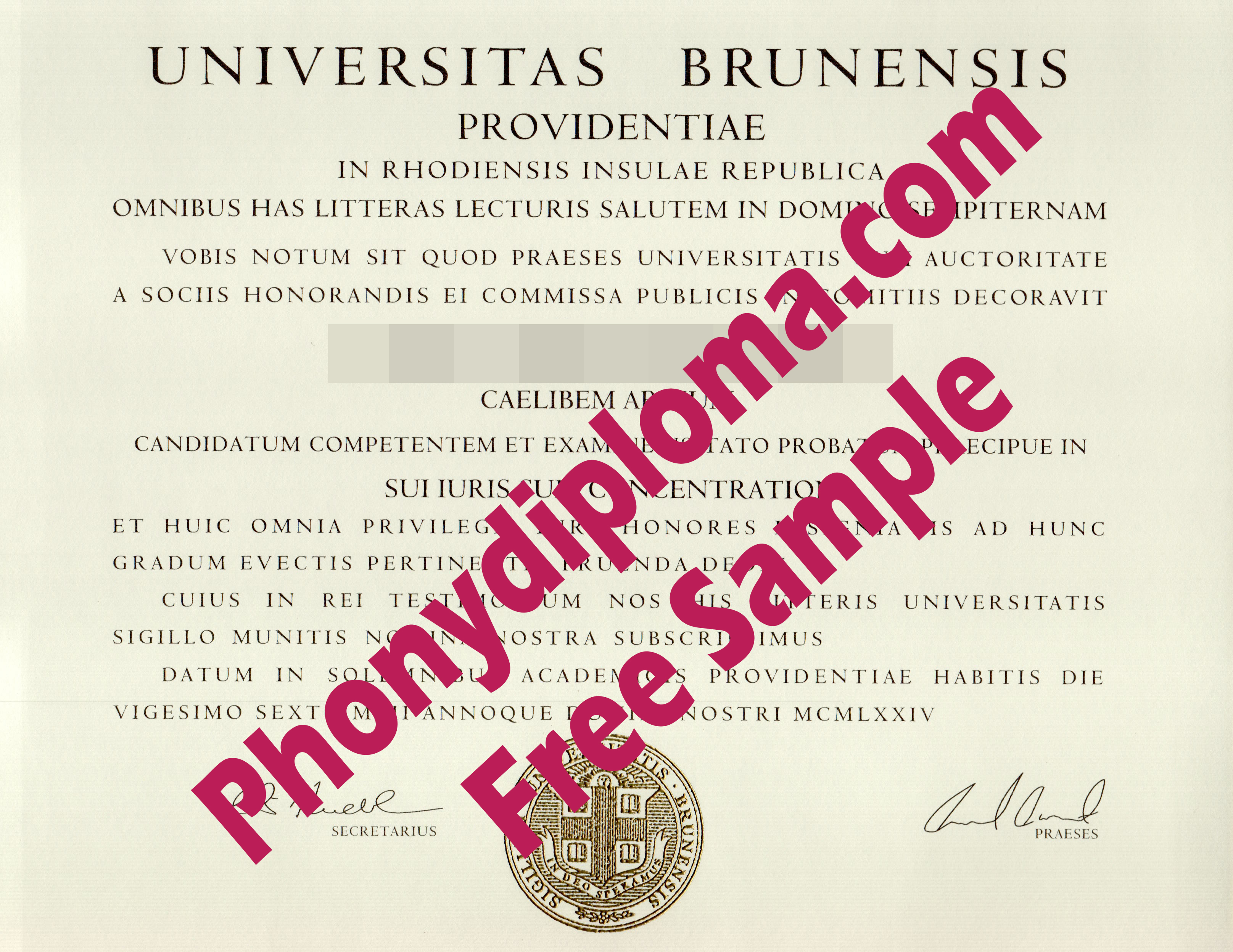 University Of Rhode Island Free Sample From Phonydiploma