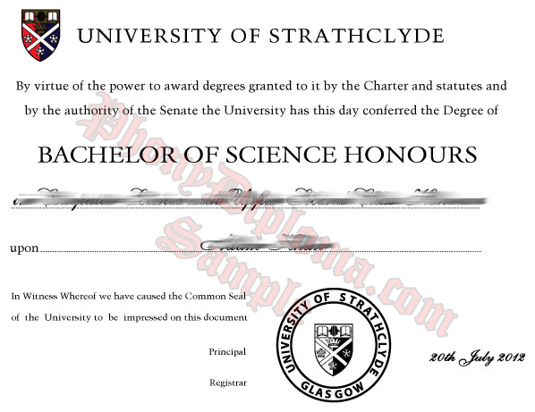 University Of Strathclyde Free Sample From Phonydiploma