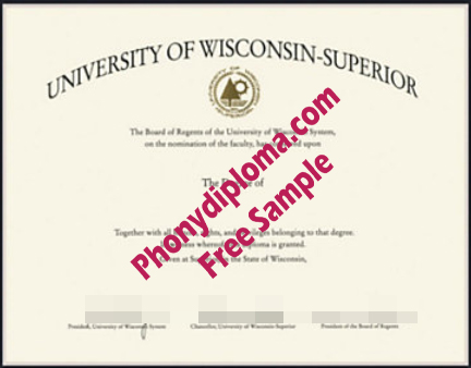 University Of Wisconsin   Superior Free Sample From Phonydiploma