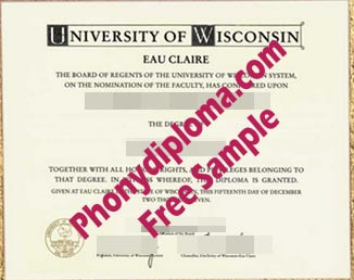 University Of Wisconsin Eau Clair Free Sample From Phonydiploma