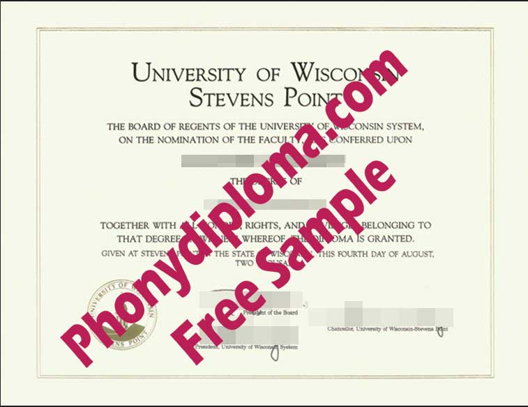 University Of Wisconsin Stevens Point Free Sample From Phonydiploma