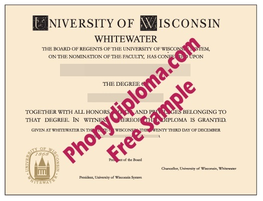 University Of Wisconsin At Whitewater Free Sample From Phonydiploma