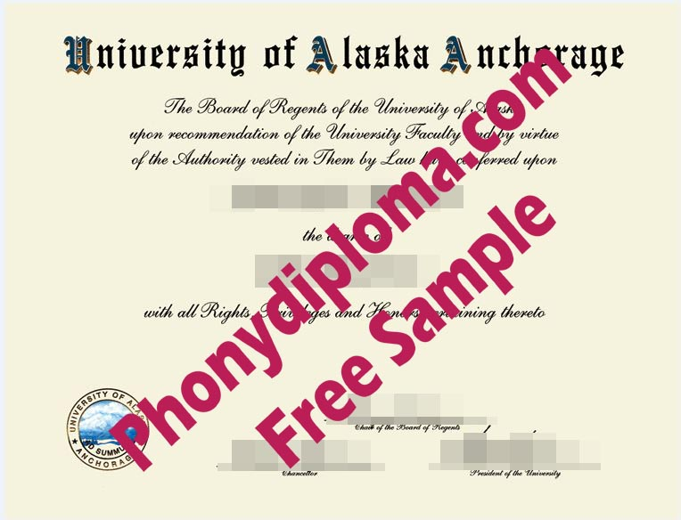 Universtiy Of Alaska Anchorage Free Sample From Phonydiploma