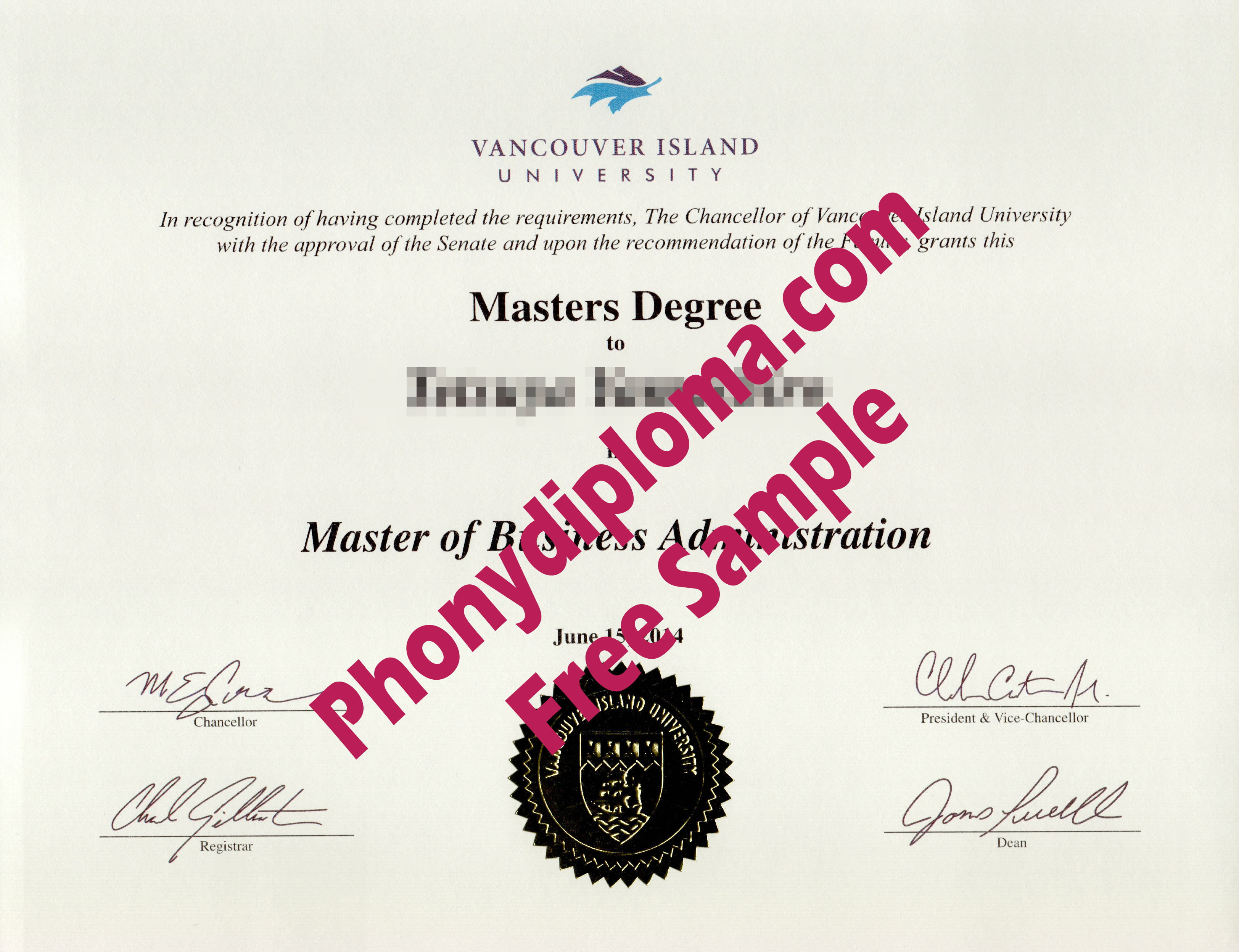 Vancouver Island University Free Sample From Phonydiploma