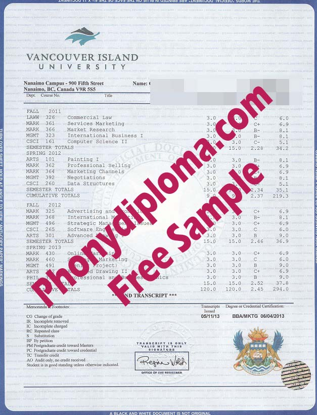 Vancouver Island University House Design Transcripts Free Sample From Phonydiploma