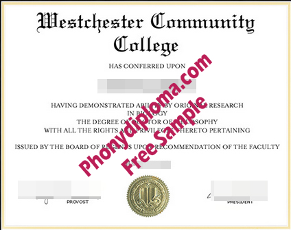Westchester Community College Free Sample From Phonydiploma