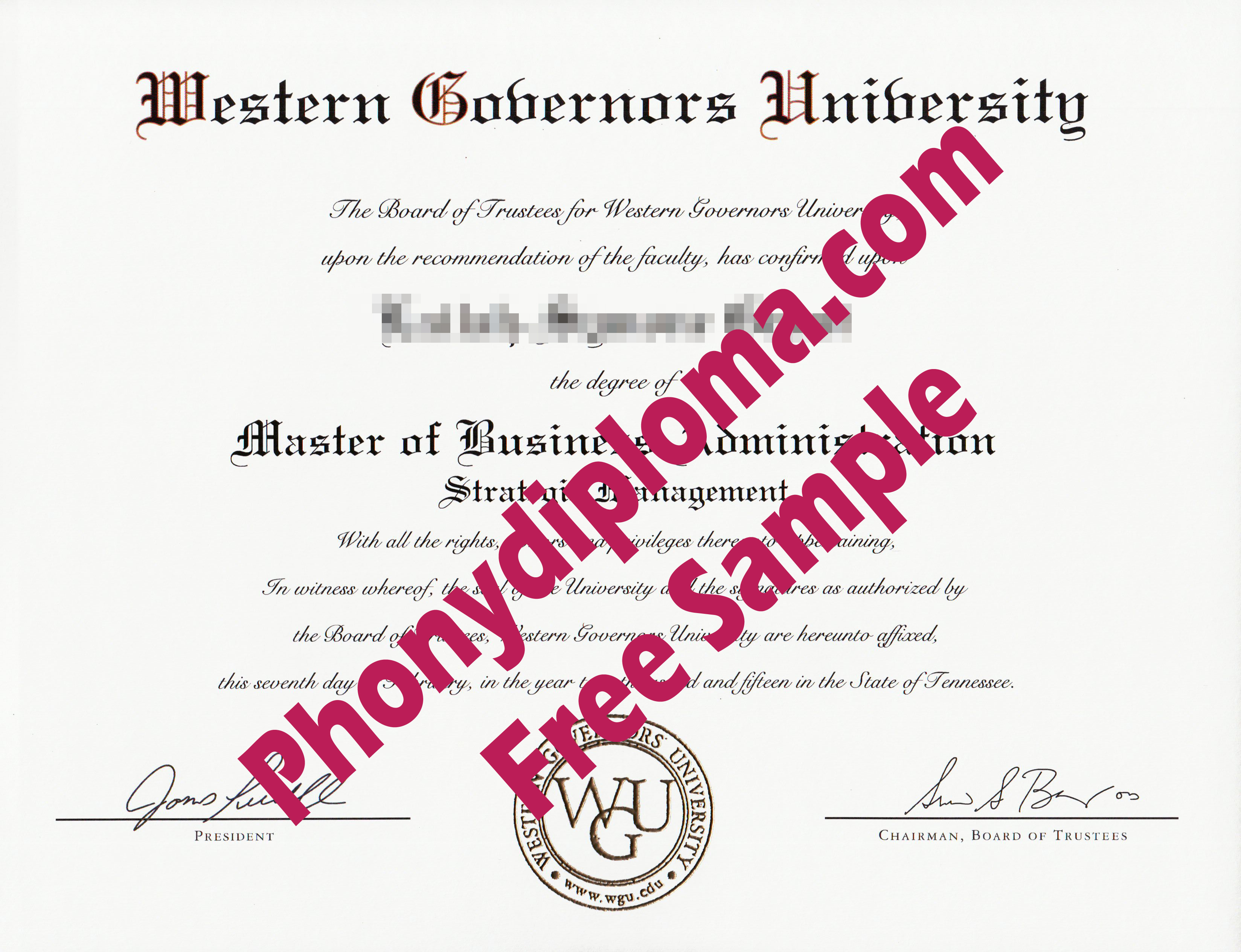 Western Governors University Free Sample From Phonydiploma