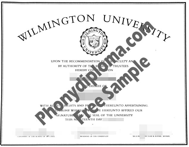 Wilmington University Ca Free Sample From Phonydiploma
