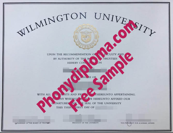 Wilmington University Free Sample From Phonydiploma