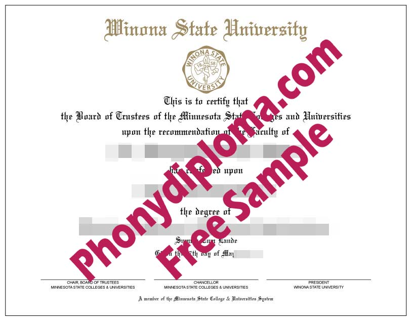 Winona State University Free Sample From Phonydiploma