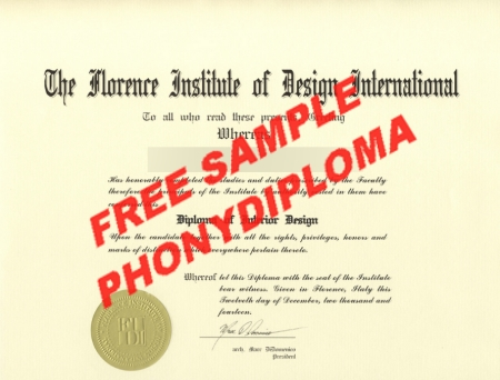 Italy The Florence Institute Of Design International Free Sample From Phonydiploma