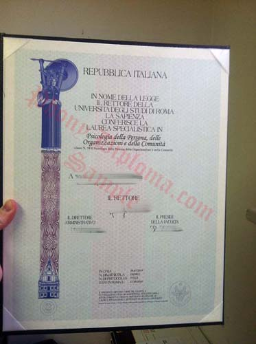 Repubblica Italiana Italy Fake Diploma Sample From Phonydiploma