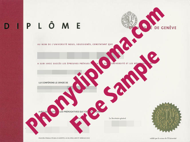Licence France French University De Geneve Geneva With Diploma Free Sample From Phonydiploma