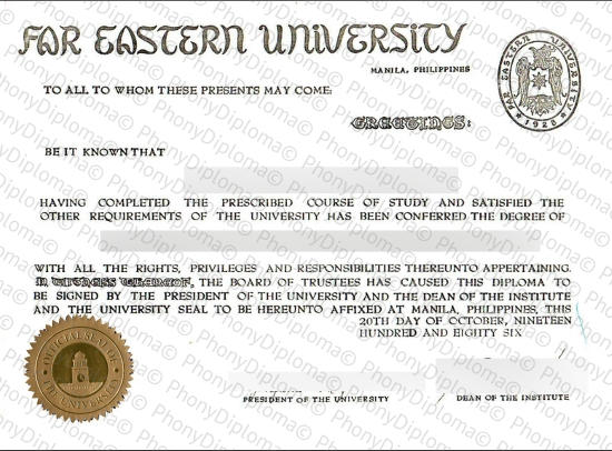 Philippines Far Eastern University Fake Diploma From Phonydiploma