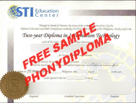Philippines Sti Systems Technology Institute Free Sample From Phonydiploma
