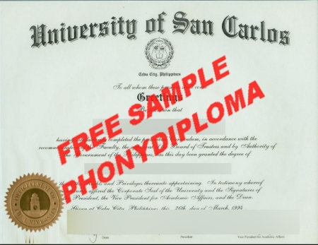 Philippines University Of San Carlos Free Sample From Phonydiploma