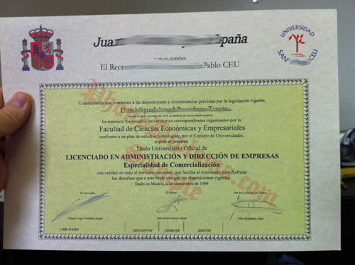 Juan Carlos 1, Rey De Espana Spain Fake Diploma From Phonydiploma