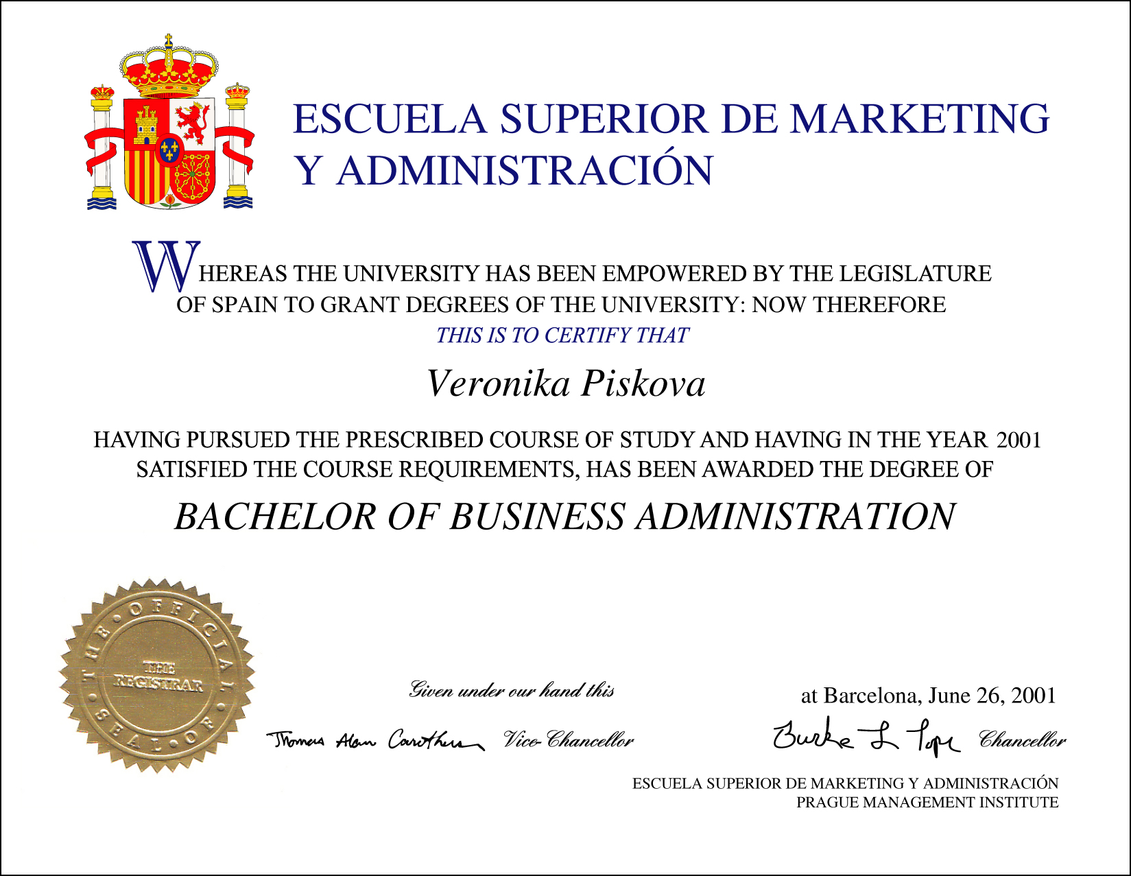 Spain Fake Diploma From Phonydiploma