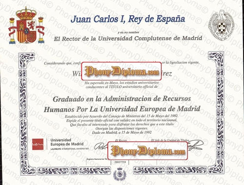 Spain Universidad Complutense De Madrid Free Sample From Phonydiploma (2)
