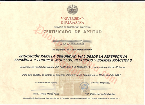 Universidad De Salamanca Spain Fake Diploma From Phonydiploma