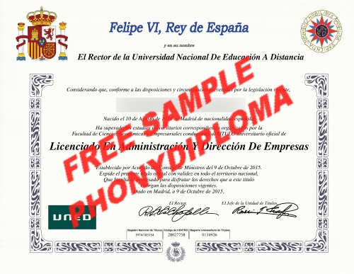 Spain Felipe Iv Rey De Espana Diploma Custom Sample Phonydiploma