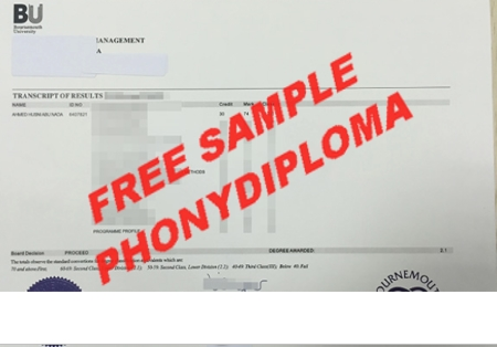 Australia Bournmouth University Actual Match Transcript Free Sample From Phonydiploma