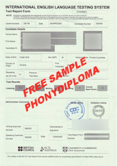 Australia Ielts Sample Free Sample From Phonydiploma