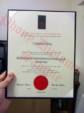 Curtin University Of Technology Australia Fake Diploma Sample From Phonydiploma